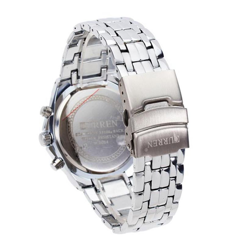 2015 Luxury CURREN Brand New Full Stainless Steel Analog Display Quartz Watch Casual Watches Men Wristwatch