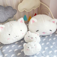 Kawaii White Rabbit Plush Toy Stuffed Bunny Toys Home Decor Bunny Pillow Spherical Cushion Anime Characters Birthday Gifts