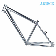 ARTECK 26 inch *17 inch frame high drawing polishing silver mountain bike frame MTB tripod(China (Mainland))