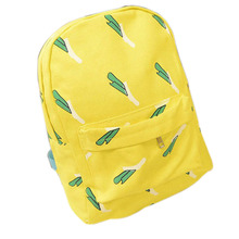 Cute Girl Banana Pattern Printing Backpack Traveling Outdoor Pratical Backpack Unique Fashion Canvas Backpack for Teenage Girls(China (Mainland))