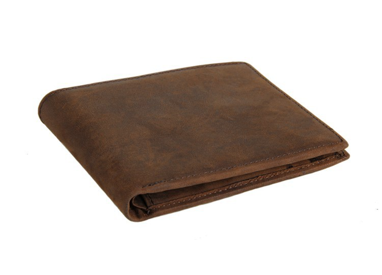 Maxdo High Quality Short Vintage 100 Guarantee Real Genuine Leather Women Men Wallets Cowhide Card Holder