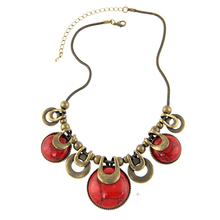 Choker Necklace For Women 2015 New Fashion Ethnic Vintage Accessories Natural Stones Chunky Chains Statement Necklace