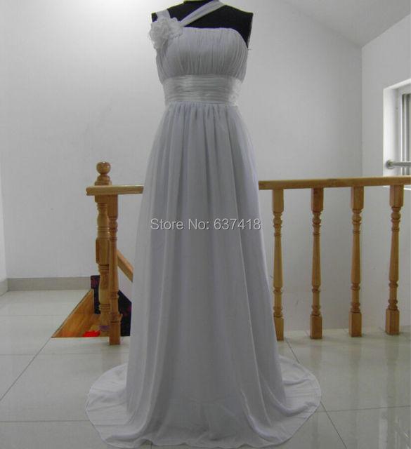 Настоящее изображения белое свадебное платье пляжа в китай свадебное платье Большой ...