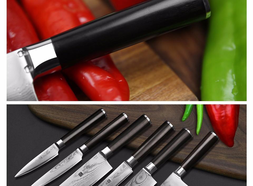 "Buy XINZUO 67 layers 7 "" santoku knife Japanese VG10 Damascus kitchen knife Japanese chef knife ebony wood handle free shipping cheap"