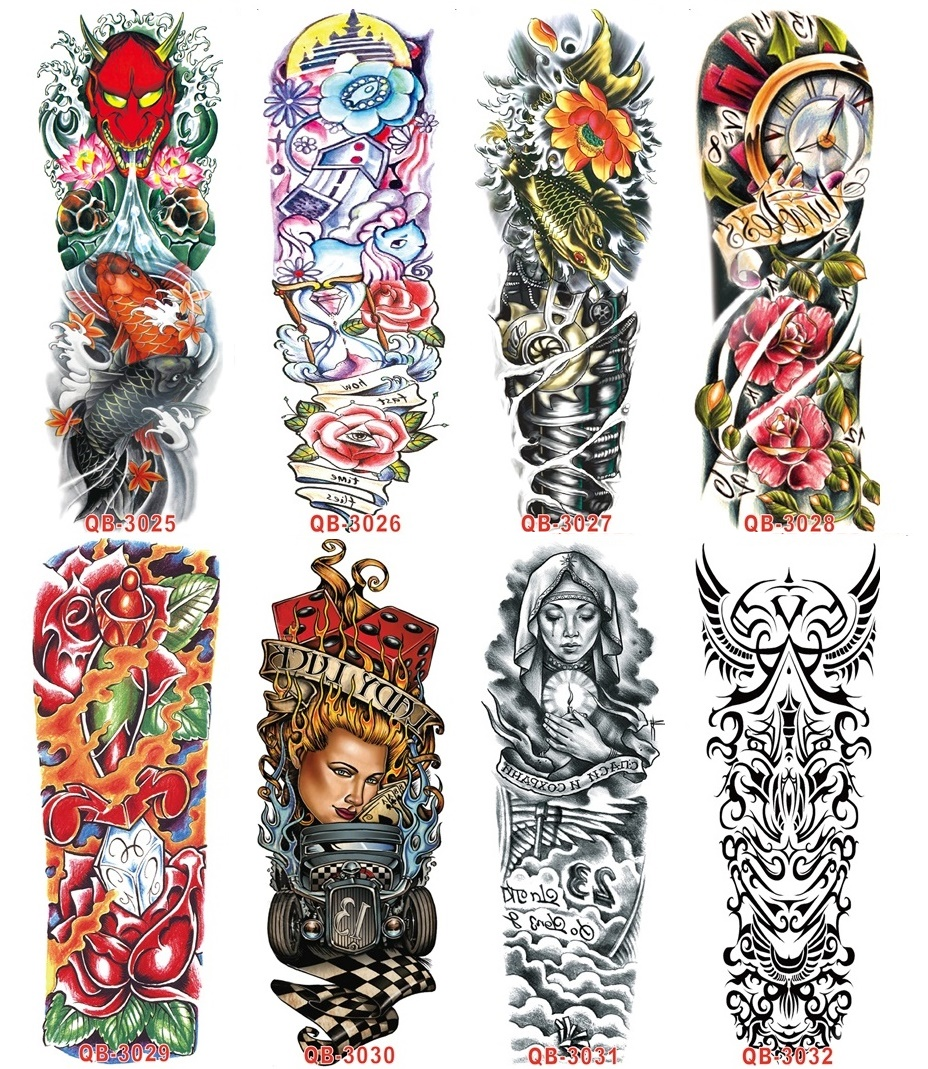 wholesale waterproof temporary tattoo Arm Large MX serial 48.5*16cm body tattoo Man disposable tattoo 500packs/lot free shipping<br><br>Aliexpress