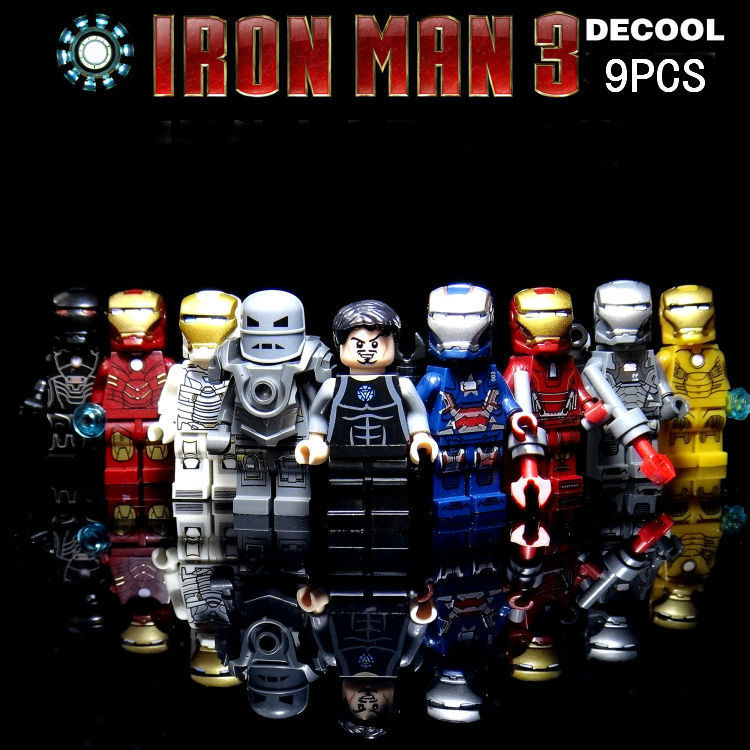 Decool 0160-0168 9pcs/lot Super heroes Iron Man Figures Toys Minifigures Building Blocks Sets Bricks Toys Christmas Gifts(China (Mainland))