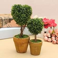 Wedding Arrangement Artificial Garden Grass Buxus Balls Boxwood Topiary Landscape Fake Trees Pots Plants(China (Mainland))