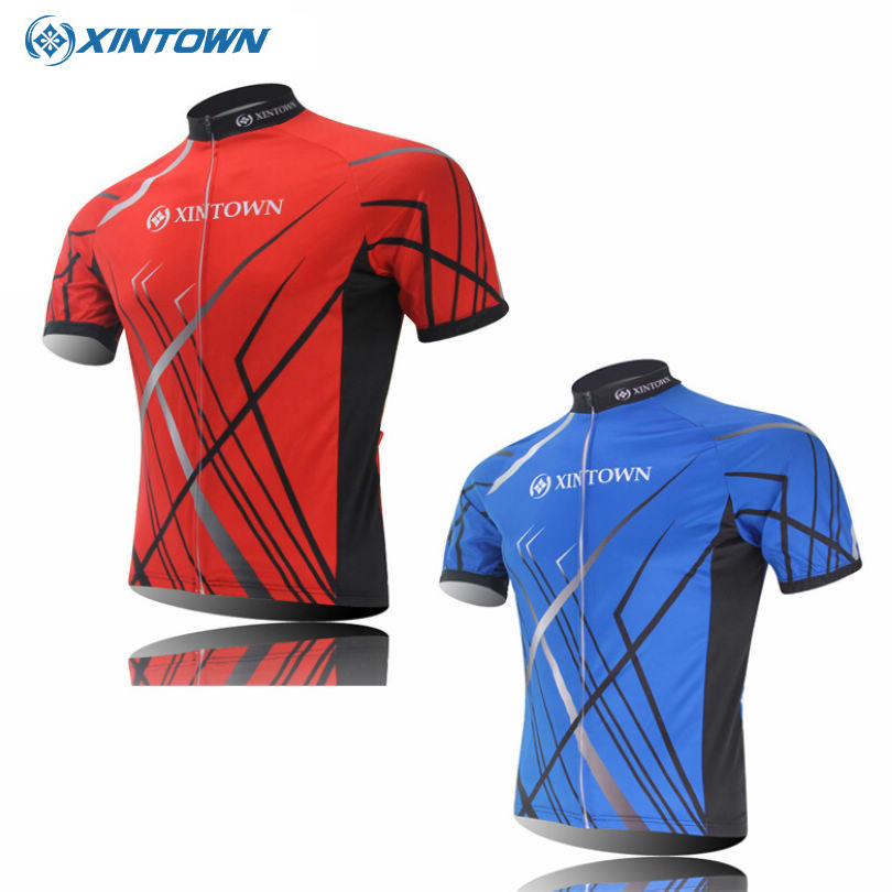 2016 XINTOWN Summer Ropa Ciclismo Bike Sportwears Pro Team Cycling Jerseys Short Sleeve Bicycle Jersey Tops Blue/Red<br><br>Aliexpress