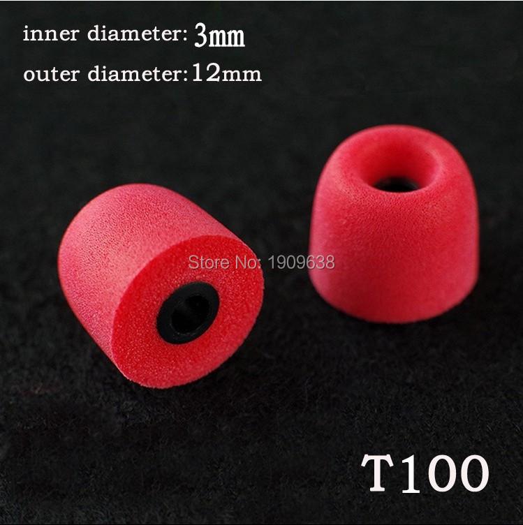 2pcs T100 3 mm caliber earphone Accessory isolation headphones Tips headset memory foam sponge earphone Ear pads for Earphone(China (Mainland))