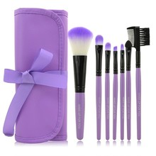 Professional 7 pcs Makeup Brushes Pinceaux Maquiagem Set tools Make up Toiletry Kit Wool Brand Brushes