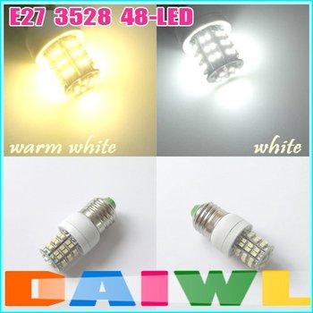 Free Shipping energy saving Home Spot Light E27 48 SMD LED Day White or Warm White Bulb Lamp 220V 3W 210lm 10pcs/lot