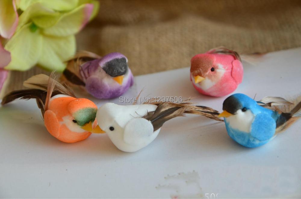 handmade simulation colorful bird artificial foam PE birds,diy craft decoration for christmas,home,wedding,ornament gift box!(China (Mainland))