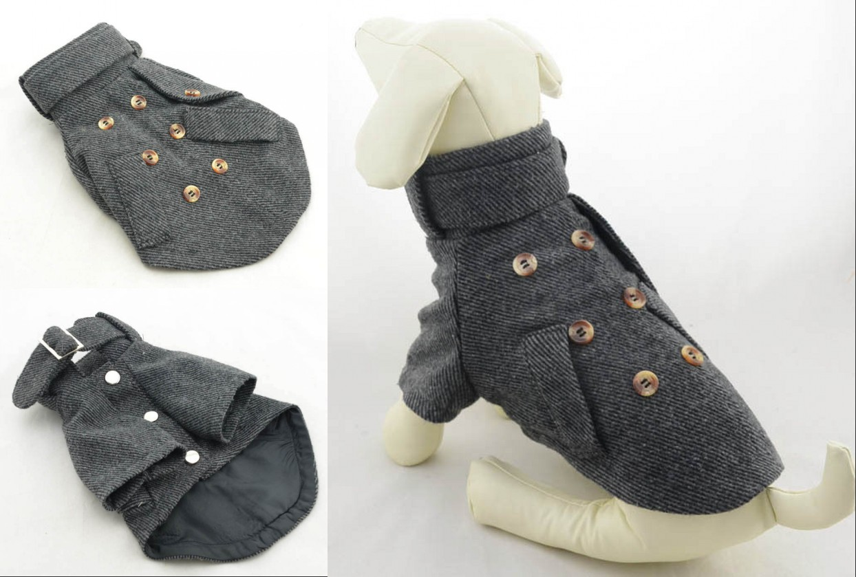 2015 New Pet Dog Clothes Elegant High-Necked Puppy Suits Fashion Autumn And Winter Dog Coat XS S M L XL Free Shipping(China (Mainland))