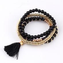 Multilayer Tassel Beads Bracelets pulseras Bohemian Bracelet For Women Gift bracciale pulseira feminina loki Bracelet Dropship(China (Mainland))