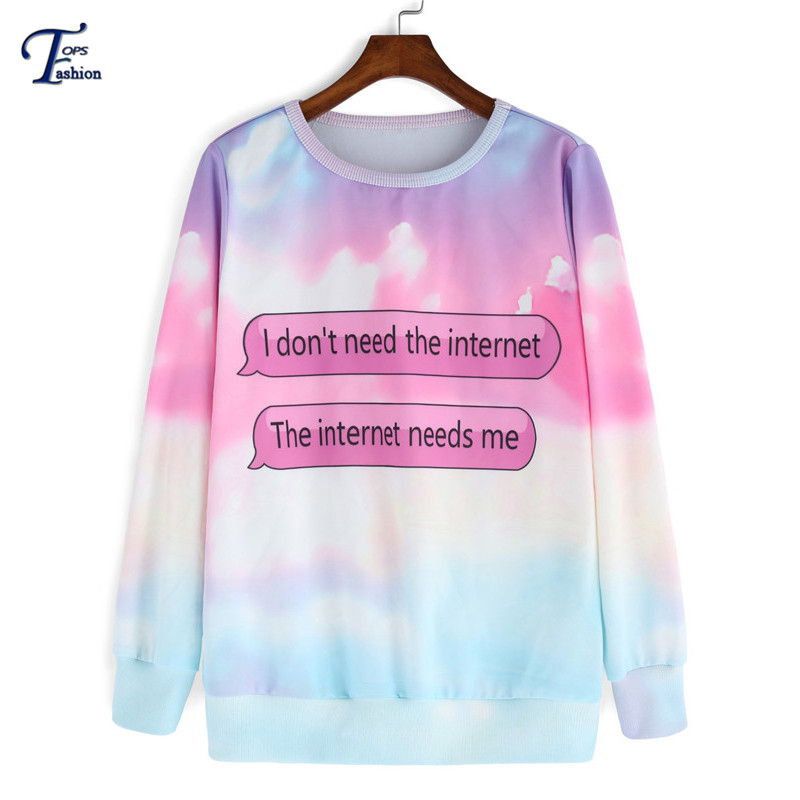 Womens Autumn Brand Designer Fashion Pullovers Casual Multicolor Long Sleeve Round Neck Patterns Letters Print SweatshirtОдежда и ак�е��уары<br><br><br>Aliexpress