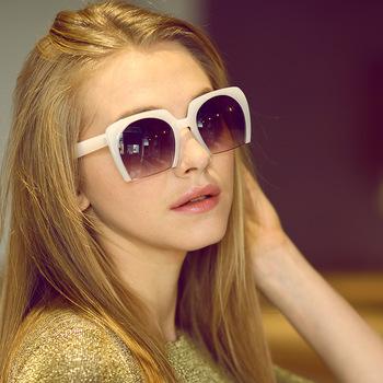 2015 новая площадь женские солнцезащитные очки для женщин солнцезащитные очки лето syle большой половина кадров марка дизайнер ретро старинные