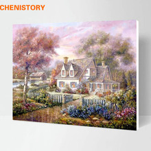 Buy Framed Dream Rural Landscape DIY Painting Numbers Multi-Picture Combination Abstract Handpainted Oil Painting Home Wall Decor for $18.50 in AliExpress store