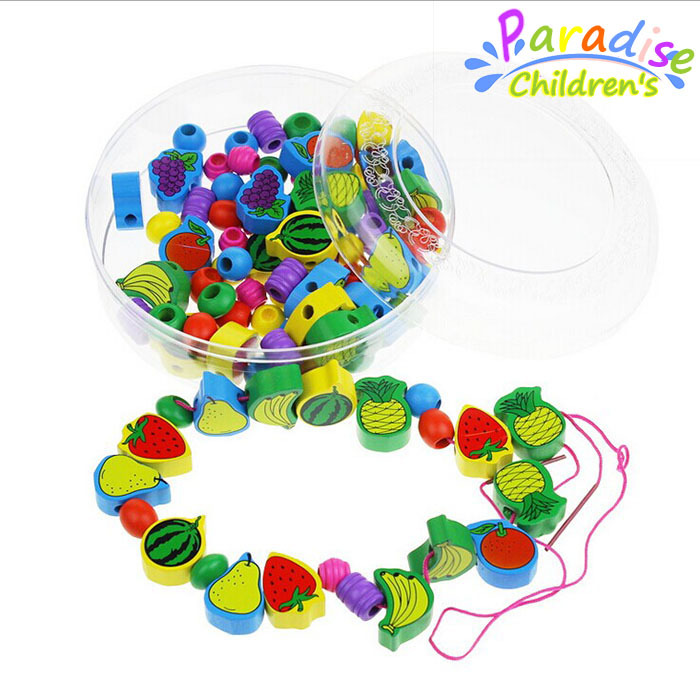 Baby fruit Digital intelligence wooden beaded toys string of beads children toys educational wooden toys Enlightenment toys <br><br>Aliexpress