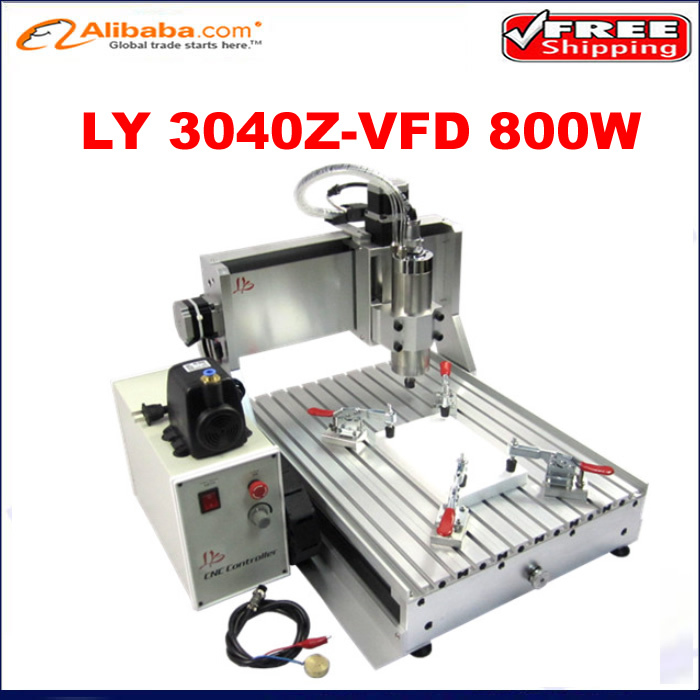 800w water cooling spindle cnc milling machine cnc 3040 Z-VFD ,hot new products for 2015 advertising cnc router, Free shipping(China (Mainland))