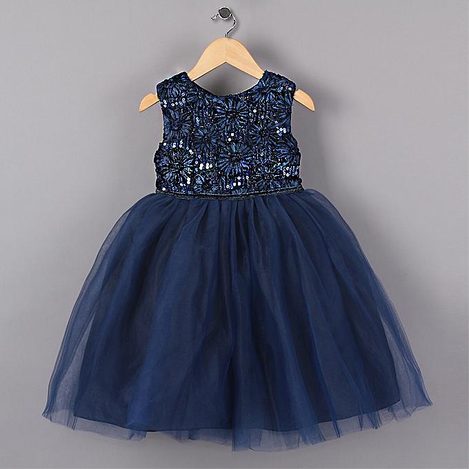 Гаджет  2014 New Blue Princess Girl Party Dresses Flower Sequined Tutu style Wedding Dress for Christmas girls clothes 3-6 years None Детские товары