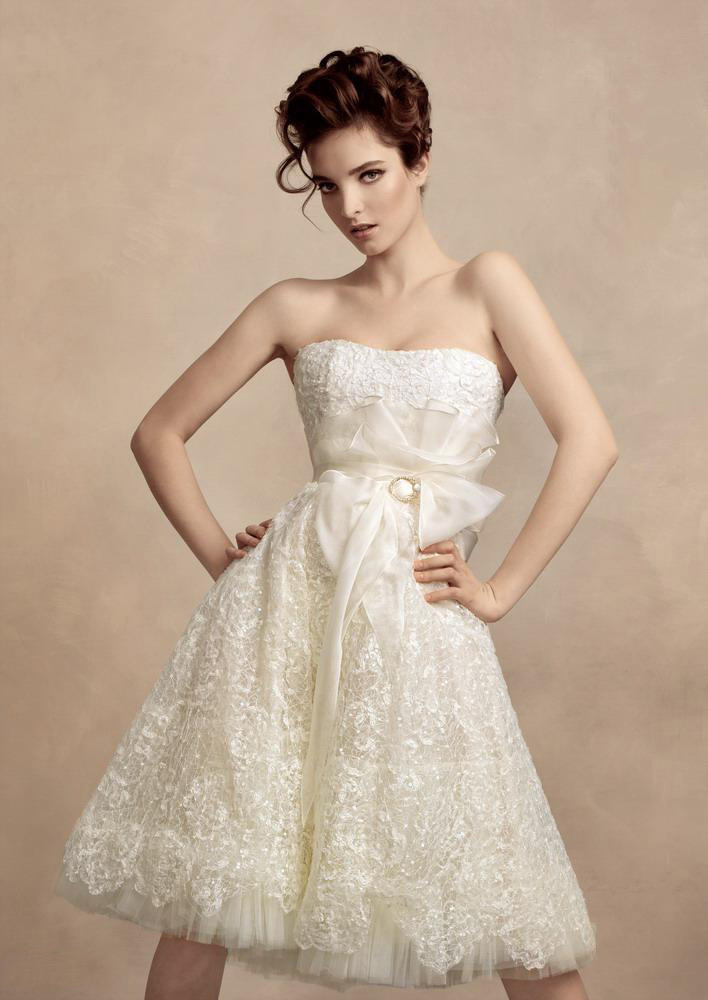 2015 vintage papilio bridal gowns modest a line strapless for Modest a line wedding dresses