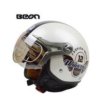 2016 Beon vintage Motorcycle helmet capacete motorcycles motorbike helmet DOT approved summer half helmets casco motorcycle