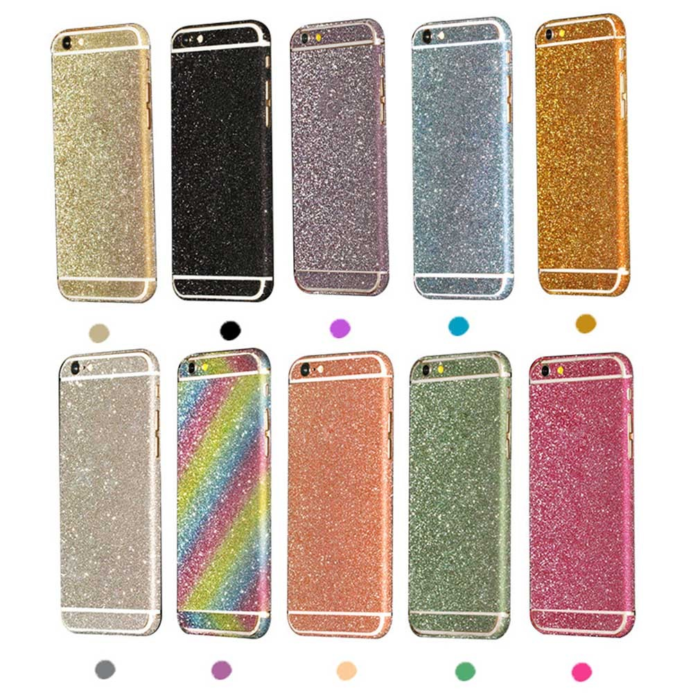 Bling Glitter Phone Protective Sticker For iphone 6 6s Plus 5 5S SE 5C Bling 360 Degree Full Body Decal Skin Wrap Phone Case