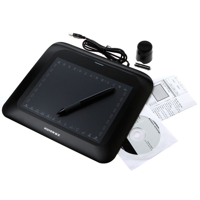 "10.6"" Art Graphics Drawing Tablet Hot Keys Cordless Digital Pen for PC Laptop Computer with USB"