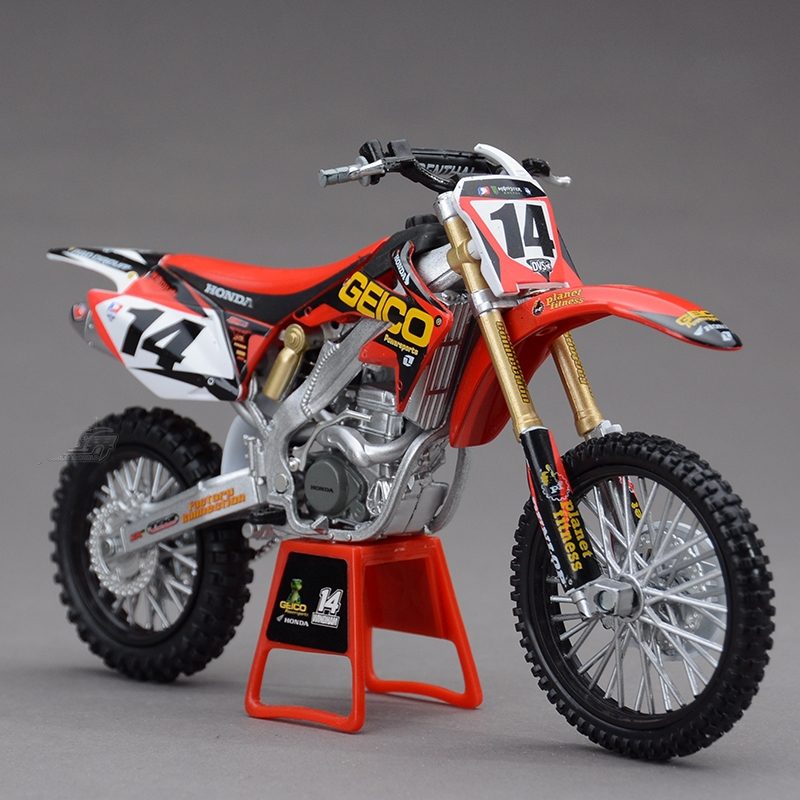 Freeshipping NEWRAY Honda CRF450R 2009 No.14 Motorcycles Diecast Metal Sport Bike Model Toy New in Box For Kids(China (Mainland))