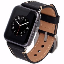 Buy Cowhide Genuine Leather Strap Watch Band Apple Watch iWatch Series 1/Series 2 38mm 42mm Wristband Replacement Adapter for $16.80 in AliExpress store