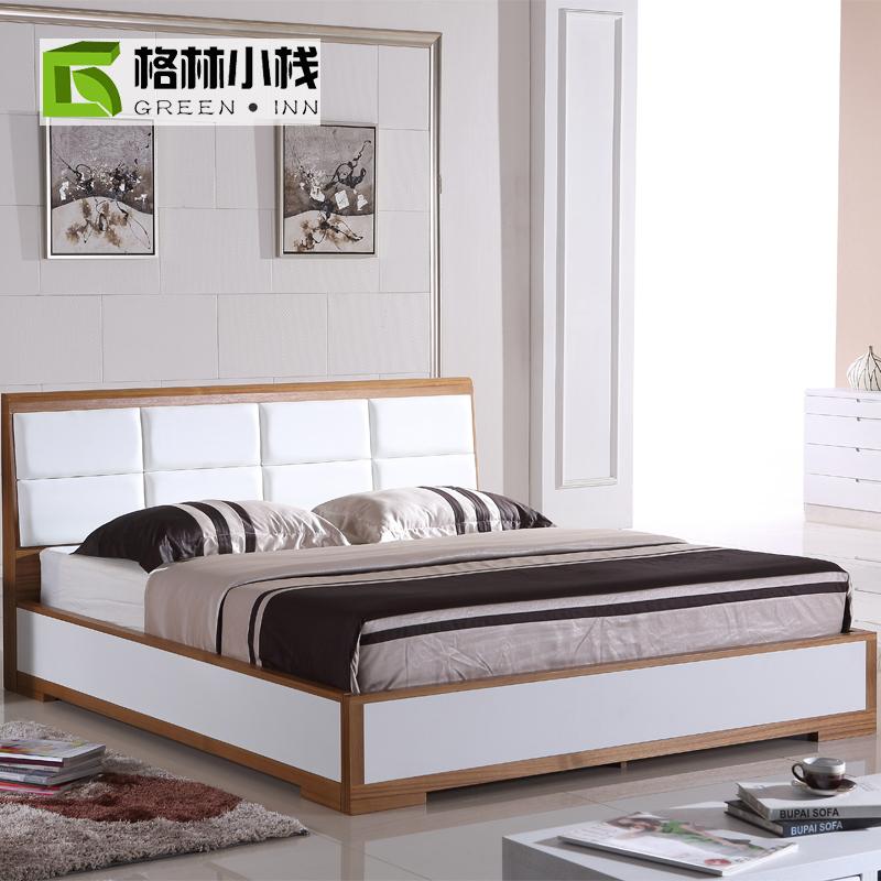 Cheap Scandinavian Modern Creative Wood Deck Type Bed 1 8 M 1 5 M Marriage Be