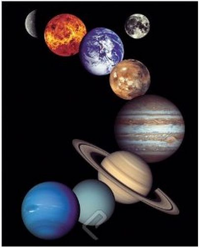 NASA - Solar System Poster, Front Loading Snap Display, Wall Mount, Professional Series Print Size 50x75cm C262(China (Mainland))