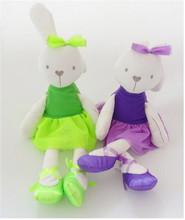 6pcs plush baby toys Baby rabbit doll appease dolls gift
