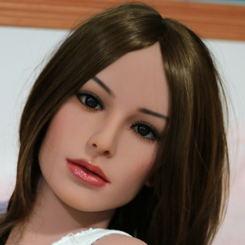 Top quality real silicone sex dolls head for adult doll, oral doll sexy toys, life size mastrubator