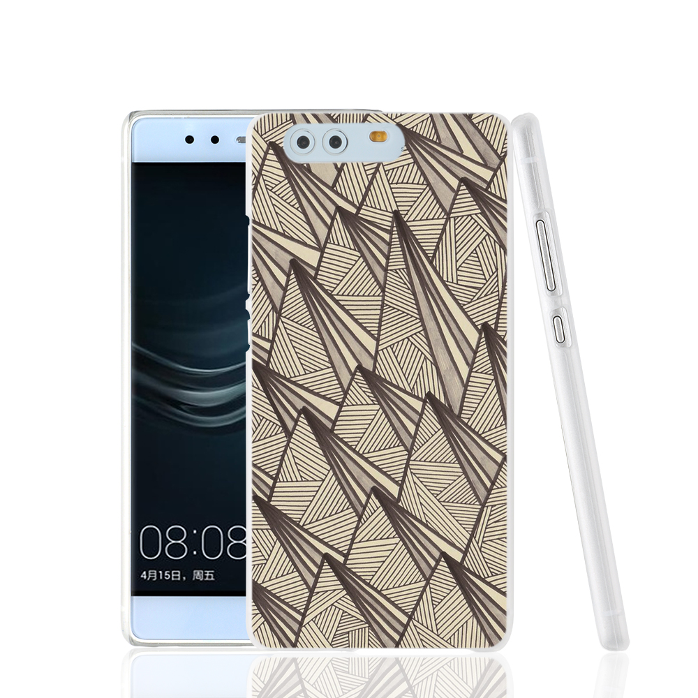07846 Triangle Egytian Fabric cell phone Cover Case for huawei Ascend P7 P8 P9 lite Maimang G8(China (Mainland))