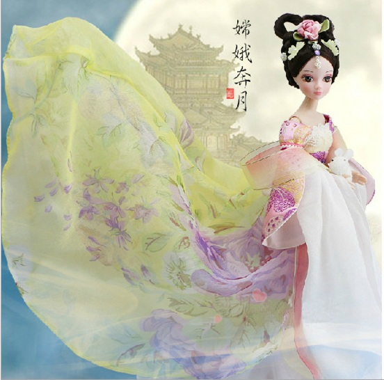 Free Shipping Bobbi baby doll doll kurhn China myth the goddess of the Moon Fairy Girl Gift(China (Mainland))