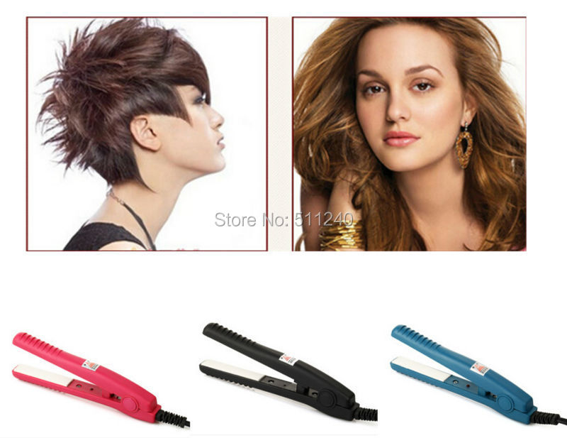 1PC Electronic 2 in 1 Dry Wet Hair Straightener Style DIY Hair Ceramic Hair Straightening Irons Curler Styling Tools US Plug