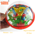 GLOBAL DRONE 100 Levels Intellect 3D Magic Maze Ball Rolling Ball Puzzle Game Brain Teaser Children