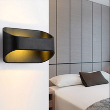 5 Watt Led Wandleuchte Warmes Licht Für Wohnzimmer Bett-zimmer Moderne Schlafzimmer Wandbeleuchtung Aluminium Led(China (Mainland))