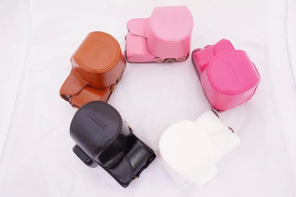 High Quality Photo Bag PU Leather Camera Bag Case For Samsung NX2000/NX1100/NX1000 Digital Camera Shoulder Bags Backpack Cases(China (Mainland))