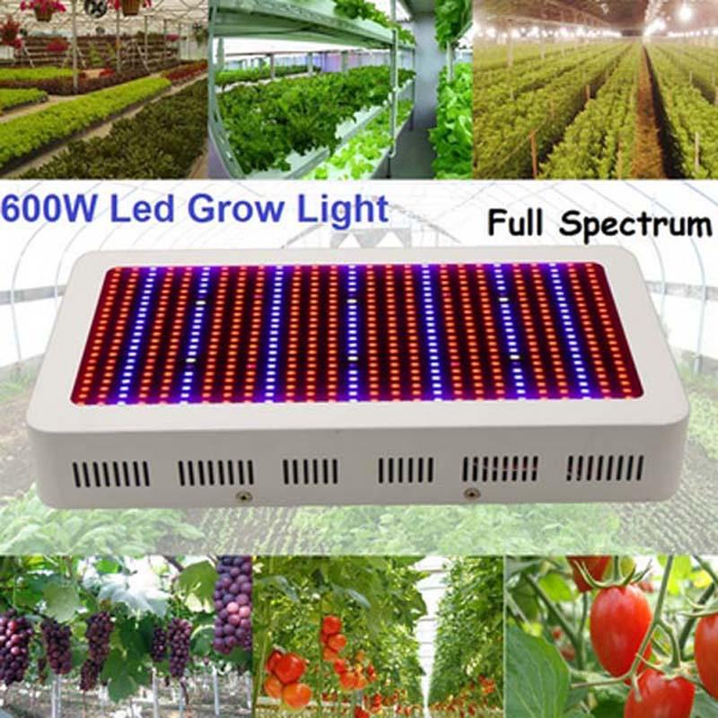 Купить Полный Спектр 600 Вт ПРИВЕЛО Гидропоники Растут Свет панели ПРИВЕЛО растут Лампы для Цветов Растений Трав Овощей/парниковых растет коробка