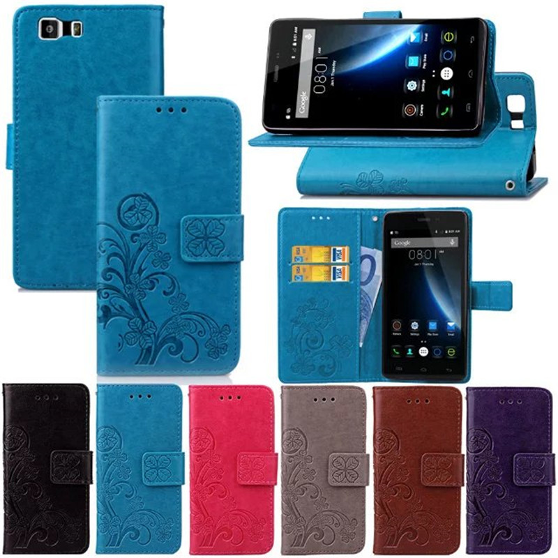 DOOGEE X5 Case 2016 New style DOOGEE X5 PU Leather Flip Case For DOOGEE X5 PRO Mobile Phone flower print Cover card slots holder(China (Mainland))