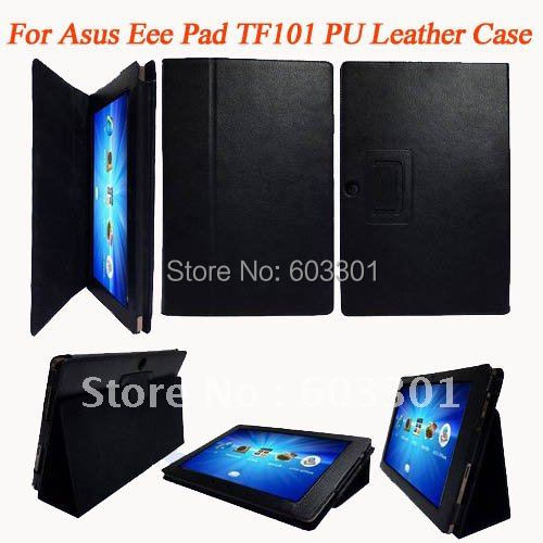 PU leather case for Asus Eeepad TF101, TF101 case stand protector, accept mix color(China (Mainland))