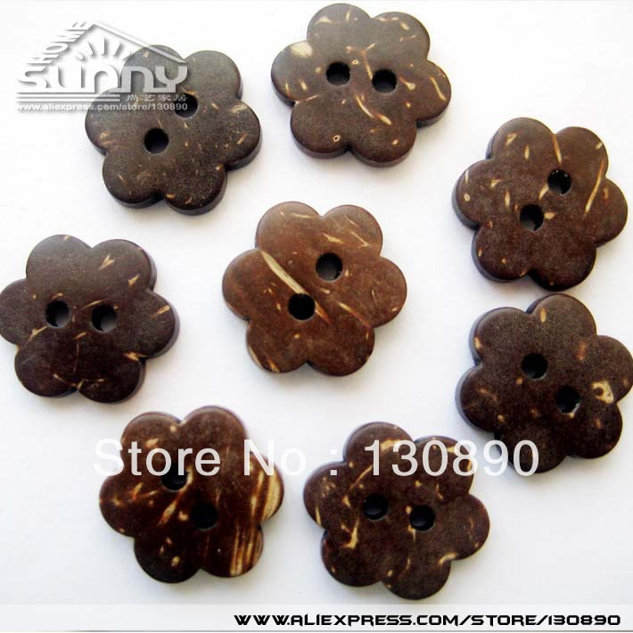 Coconut Shell Buttons 2 Holes Garment Accessories Scrapbooking DIY Crafts By Free shipping(China (Mainland))