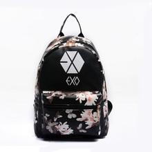Women Leather Small Printing Backpack Preppy Style School Travel Floral EXO Backpacks For Teenage Girl Light Bag Bolsa Feminina(China (Mainland))