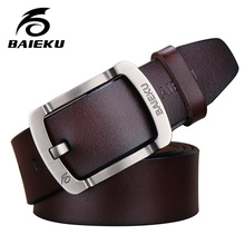 Buy BAIEKU 2016 cow genuine luxury leather men belts men strap male pin buckle masculino 100-125cm free for $13.75 in AliExpress store