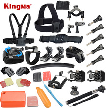 Gopro Accessories Set Helmet Harness Chest Belt Head Mount Strap Monopod Go pro hero3 Hero 4 session 3+ xiaomi yi SJ4000 SJ7000