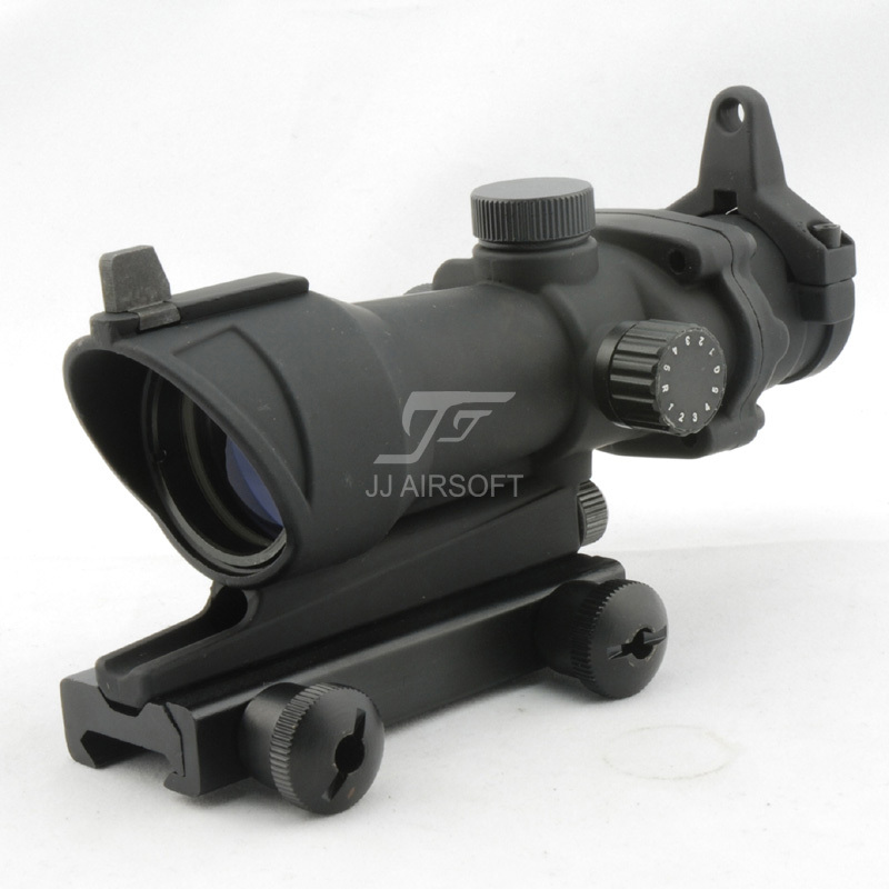 JJ Airsoft ACOG Style 4x32 Scope Red/Green Reticle (Black) Full Line Red Illumination FREE SHIPPING<br><br>Aliexpress
