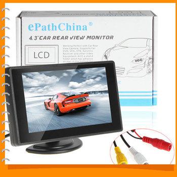 4.3 дюймов цветной TFT LCD парковка автомобилей заднего вида монитор автомобиля заднего вида резервного копирования монитор 4.3 '' 2 видео вход для камера заднего вида DVD