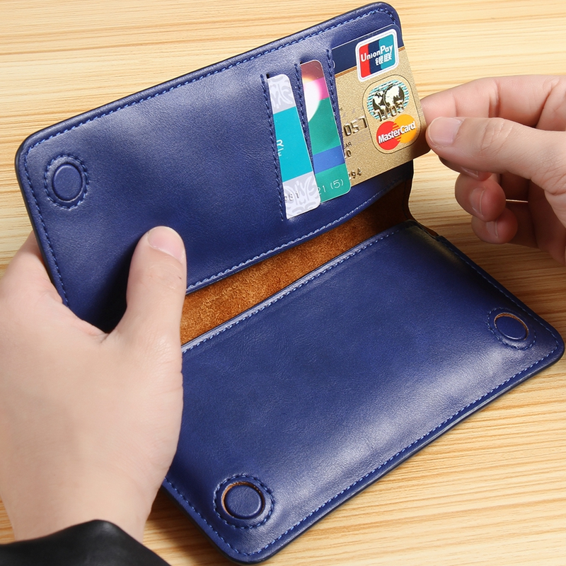 5.5 General Classic Flip Wallet Genuine Leather Pouch For iPhone 7 Plus 6S SE 5s 4S For Huawei P6 P7 P8 Mate 7 Redmi3 Phone Case(China (Mainland))